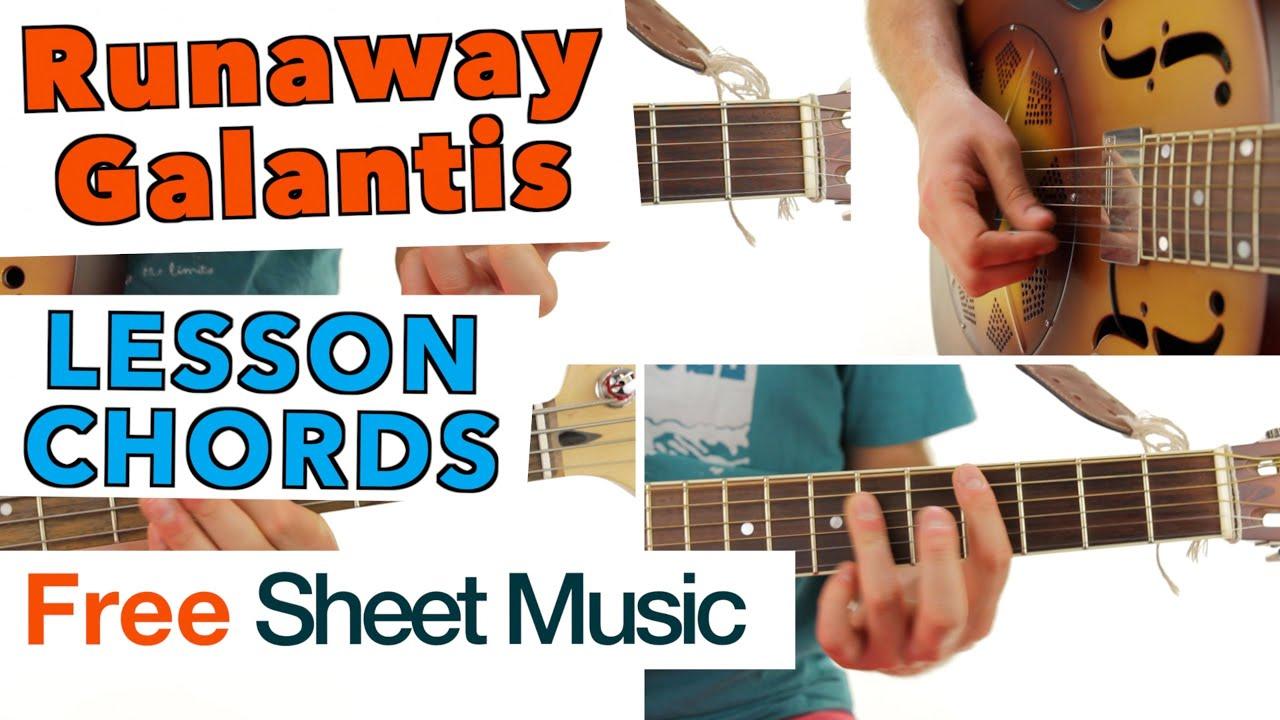 Runaway Galantis Guitar Lesson Tutorial Chords Youtube