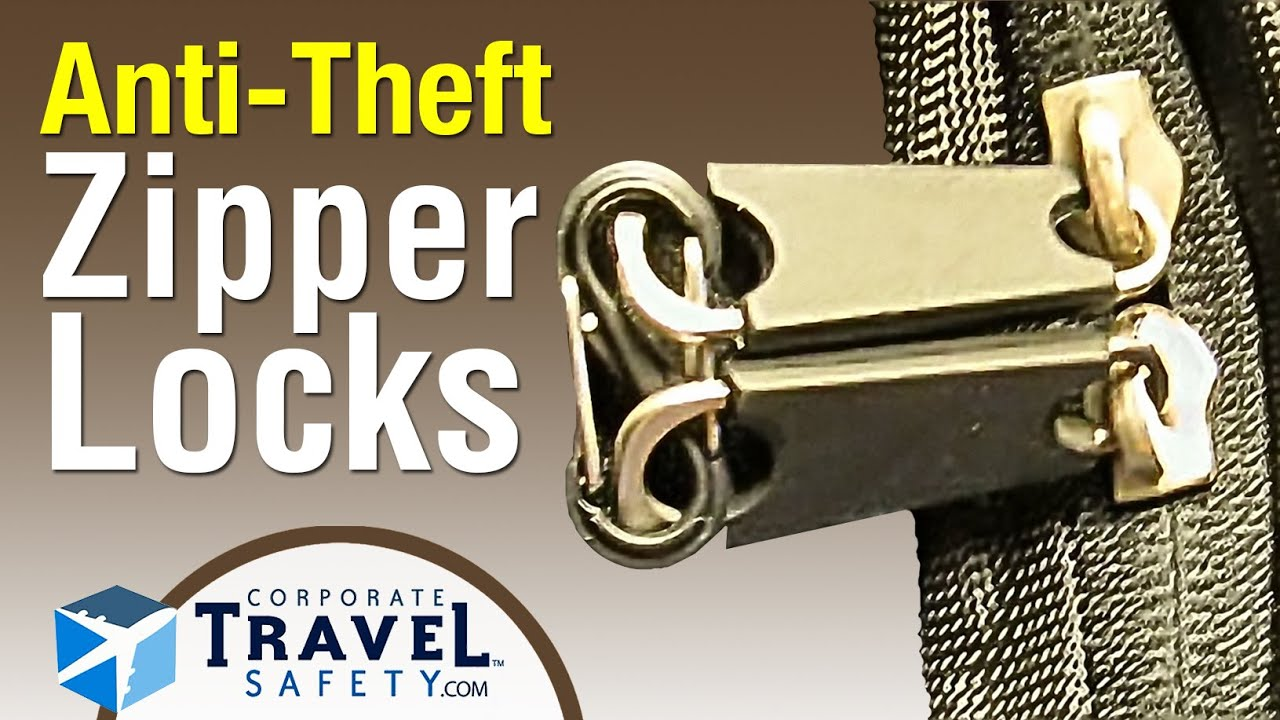 Zipper Locks Security For Travel Bags Purses And Backpack Zippers You