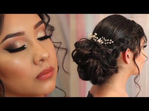 PROM Makeup & Hair #3 | Simple Smokey Eye ⭐️ | Updo With Braids Tutorial | Rosita Rosita thumbnail