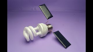 Solar Energy , Electricity Free Energy Generator With Light Bulb