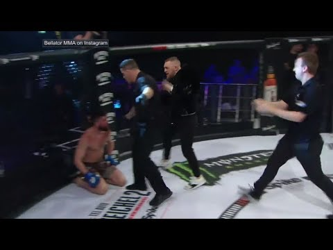 Conor McGregor storms cage and confronts referee | ESPN