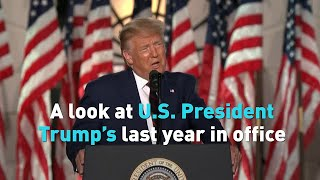 A look at U.S. President Donald Trump's last year in office