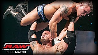 WWE  GOLDBERG VS RANDY ORTON  (FIRST AND LAST TIME EVER)