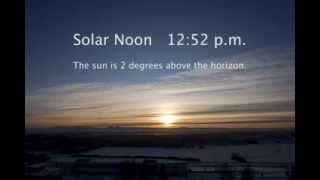 Winter Solstice in the Arctic. Fairbanks, Alaska. Time-lapse video.