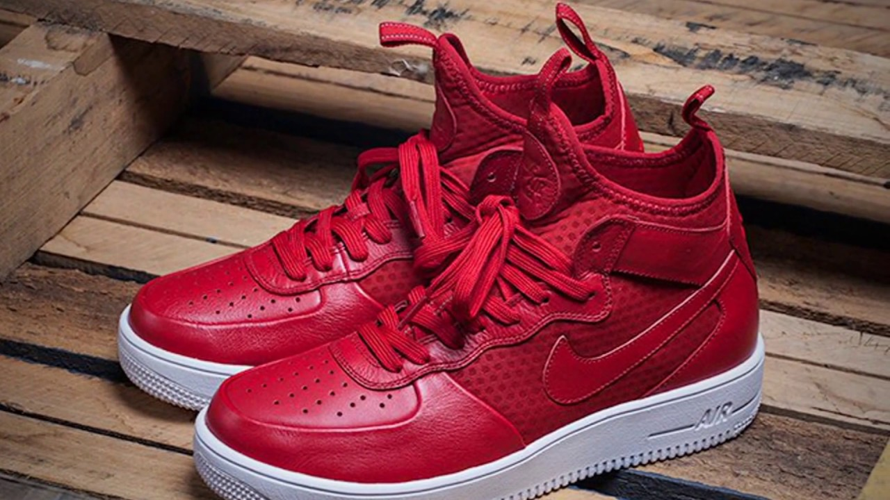 NIKE AIR FORCE 1 ULTRAFORCE MID (UNIVERSITY RED)
