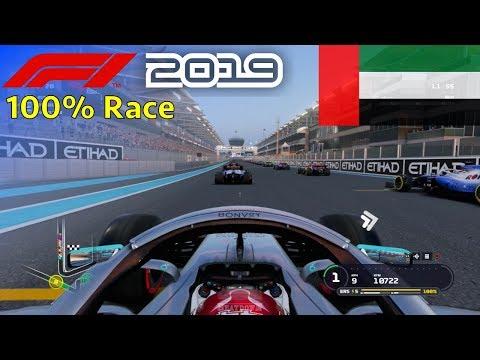 F1 2019 - 100% Race at Yas Marina Circuit, Abu Dhabi in Hamilton's Mercedes