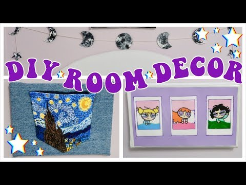 diy-✰-aesthetic-✰-room-decor!-painting-on-jeans,-vhs-wall-art,-and-more!