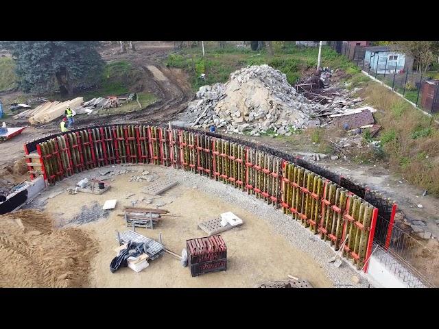 Szalowanie ścian łukowych basenu (PERI RUNDFLEX) | Czeladź | ABC Szalunki | #Szalunki #Budowa