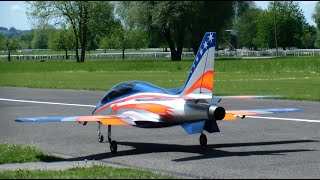 Cool R/C Viper turbine Jet flown by Pascal.T (F4 Swiss-Master 2014) on the 26.Oldtimermeeting