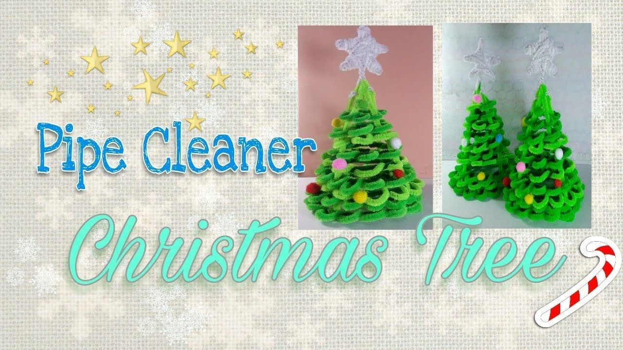 how to make a pipe cleaner christmas tree - Pipe Cleaner Christmas Tree