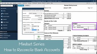 Mindset for QuickBooks: How to Reconcile Your Bank Account
