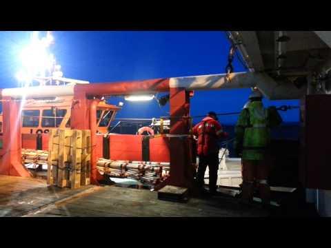Pilot Disembarking off Norway - Leaving port Tananger