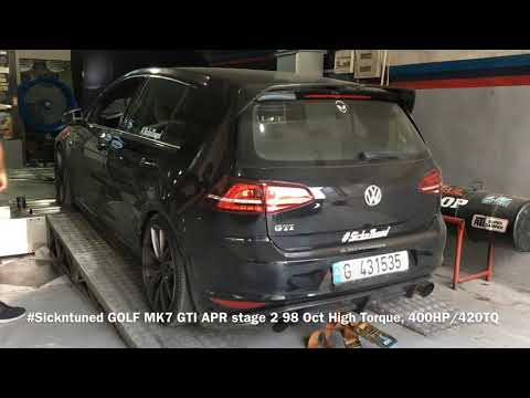 Sickntuned APR Volkswagen Golf Mk7 GTI 400hp Club!! APR STAGE2 98 oct High Torque Dyno