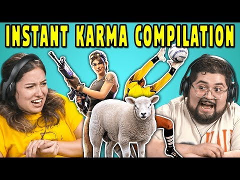College Kids React To INSTANT KARMA Compilation