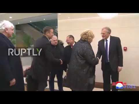 North Korea: Russian State Duma delegation arrives in Pyongyang