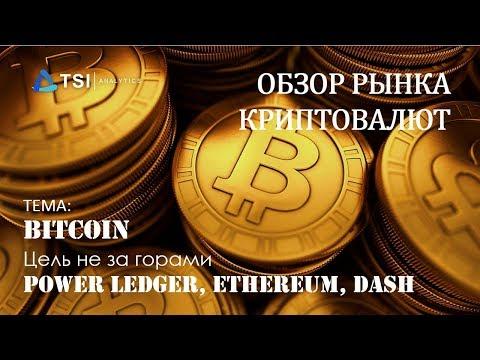 Bitcoin — цель не за горами. Power Ledger,  Ethereum, DASH | Обзор TSI Analytics