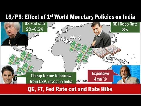 L6/P6: BoP-Capital Account: QE/FT, Fed Rate cut,Rate Hike:Their impact on India