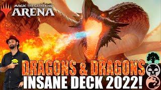 BEST DRAGONS DECK 2022!  -MTG ARENA DECK- #mtgarena #mtgarenabr #mtg