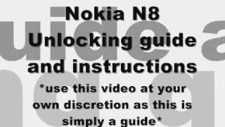 How to Unlock Nokia N8, N95, 5310, 5610 by code - Rogers Tmobile USA Instructions guide