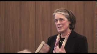 Chief Justice Mrs. Susan Denham speaks at the launch of