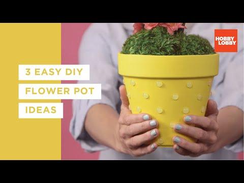 3 Easy DIY Flower Pot Ideas   Hobby Lobby®