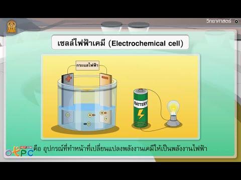 แหล่งกำเนิดไฟฟ้ากระแส ตอน กระแสไฟฟ้าจากเซลล์ไฟฟ้าเคมี - สื่อการเรียนการสอน วิทยาศาสตร์ ม.3