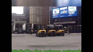 Inogieration day at Madison square garden loading dock