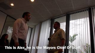 Joel Chandler Visits Miami Beach Mayors Office