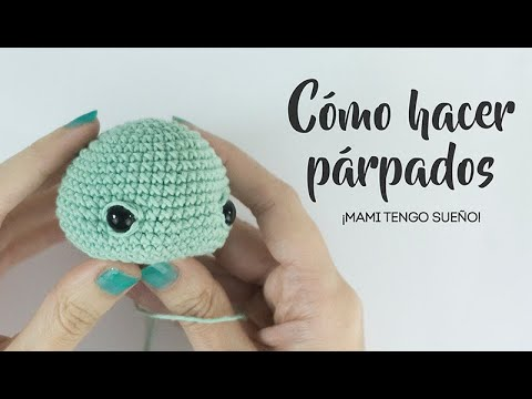 How to Add Faces to Amigurumi: Crochet Eyes and Eyelids | Squirrel ... | 360x480