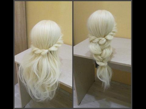 Прическа за 3 минуты.😜 Легко, красиво, быстро. 👍☺ Hairstyle for 3 minuty.😜 easy, beautiful, fast. 👍☺