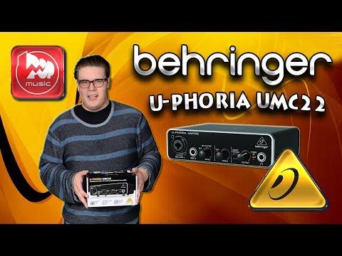 BEHRINGER UMC22 -доступная звуковая карта с фантомным питанием
