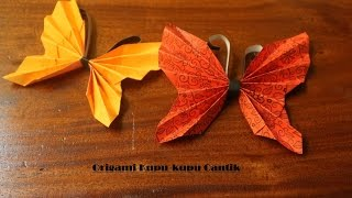 Cara membuat origami kupu-kupu cantik
