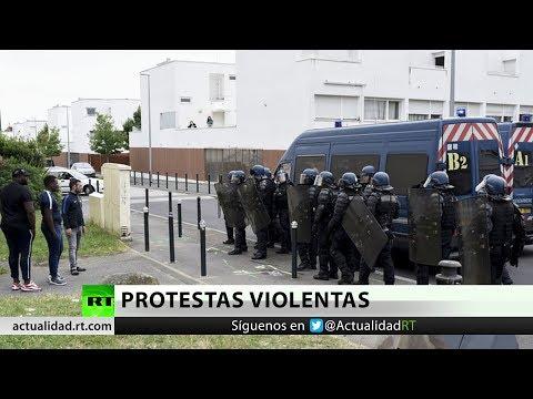 Francia: La Policía antimotines se desborda sobre Nantes tras una noche de enfrentamientos