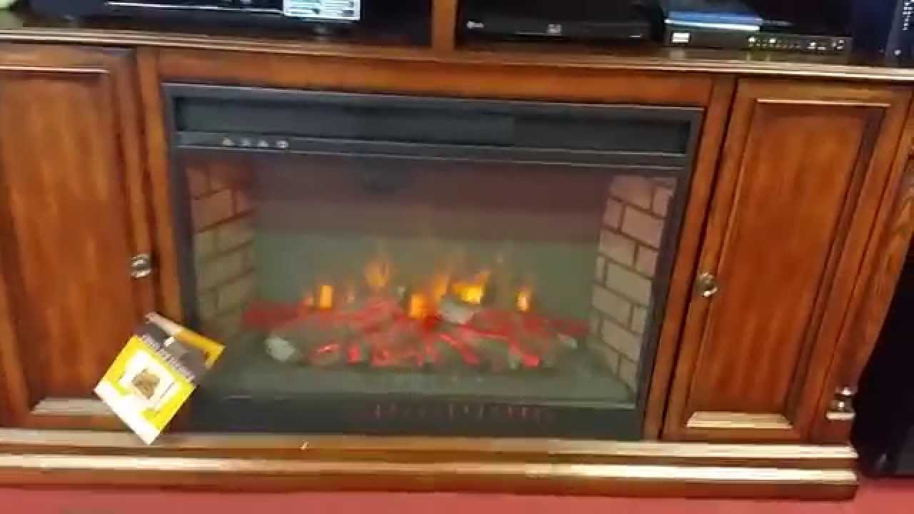 Electric Fire Place Entertainment Center Youtube