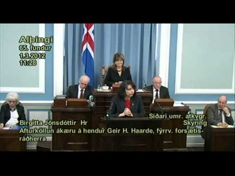 Atkvæðagreiðsla á Alþingi um frávísun tillögu BB um Landsdóm