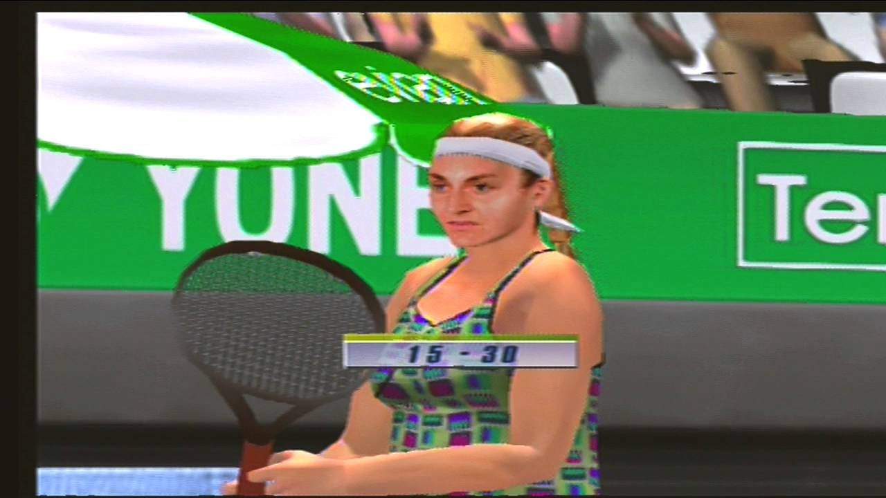 Mary Pierce Monica Seles Sega Sports Tennis video game