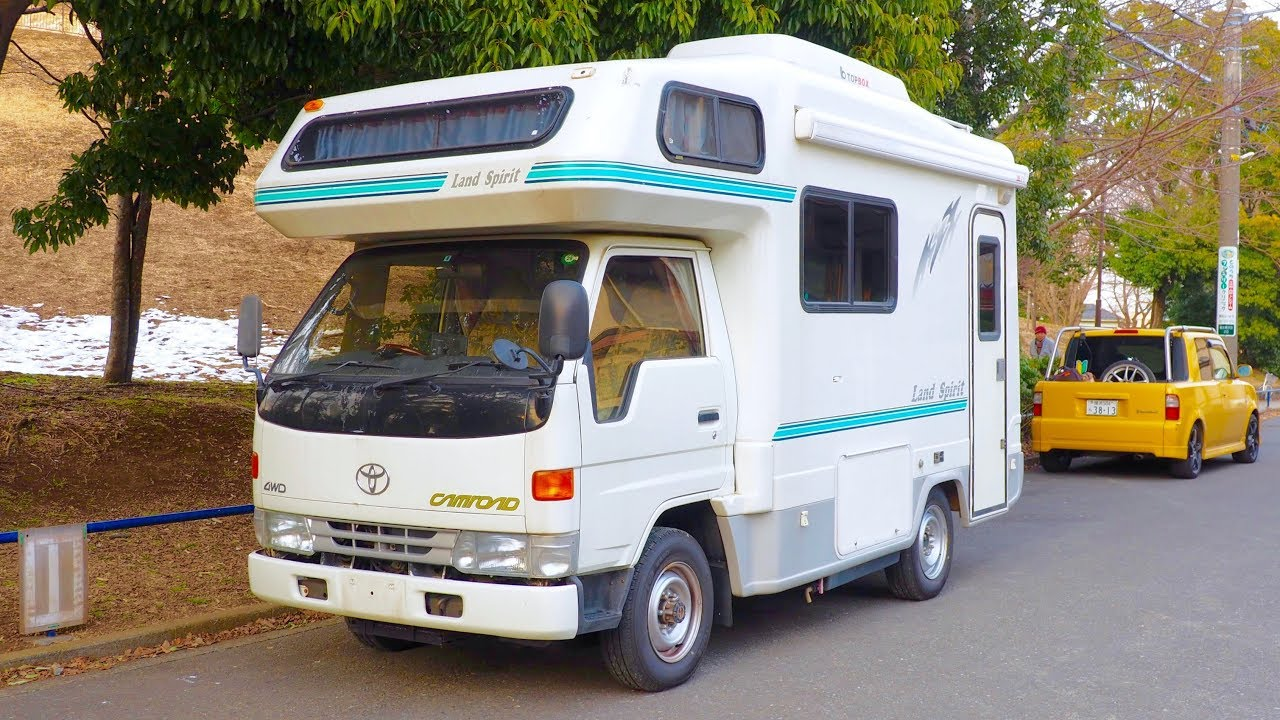 2001 toyota camroad 4wd diesel camper canada import japan auction purchase review youtube. Black Bedroom Furniture Sets. Home Design Ideas