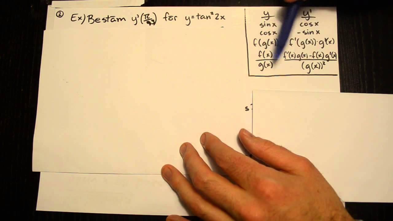 Derivata 23: Exempel för Matematik 4 del 1