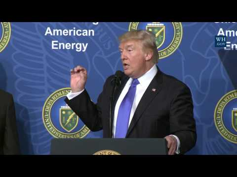 President Trump Gives Remarks at the Unleashing American Energy Event