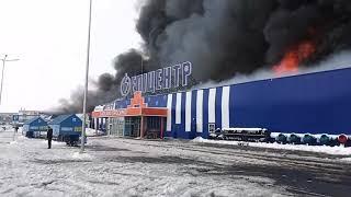 Рятувальники локалізували пожежу в одноповерховій будівлі ТЦ «Епіцентр»