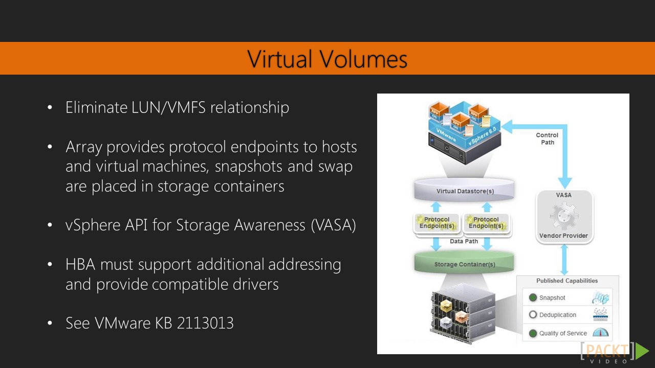 Learning vSphere 6 : VMFS and VAAI | packtpub com - YouTube