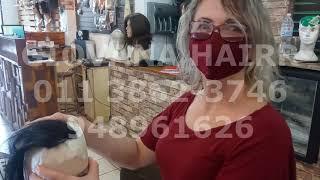 Curso Ao Vivo 1º dia - parte da tarde Confecção De Protese Capilar De Topo Injetável Maquina