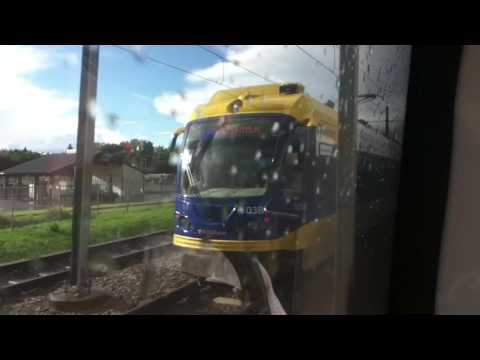 METRO Blue Line Light Rail 28th Ave Station to US Bank Stadium Station 8/20/16