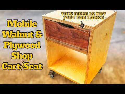 How to Make Mobile Shop Cart/Seat   DIY Woodworking Project