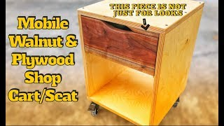 How to Make Mobile Shop Cart/Seat | DIY Woodworking Project
