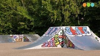 Nieuwe graffiti op skatebaan Wezep