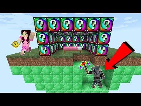 Minecraft: EXPLOSIVE SPIRAL LUCKY BLOCK BEDWARS! - Modded Mini-Game