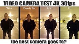 Camera Test: iPhone Xs Max vs Note 9 vs Huawei P20 Pro vs OnePlus 6 [4K]