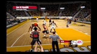 NCAA March Madness 2005 Rivalry Game Flashback Georgia vs Georgia Tech Retro Gameplay