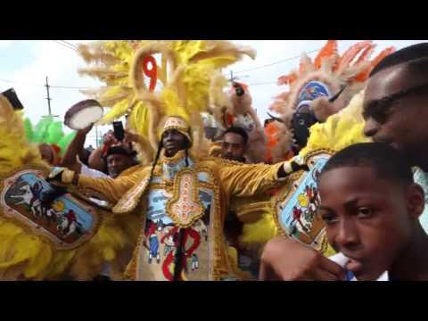 New Orleans Mardi Gras Day 2017 9th Ward Black Hatchets